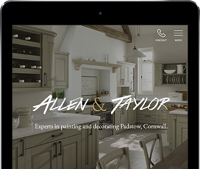 Cornwall Web Designers built the Allen and Taylor painters and decorators website.