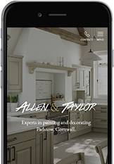 Web Designers from Cornwall built the Allen and Taylor painters and decorators website.