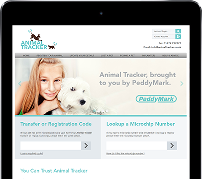 Cornwall Web Designers built the Animal Tracker website.