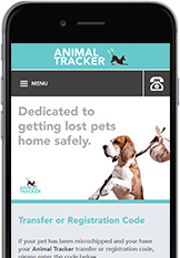 Web Designers from Cornwall built the Animal Tracker pet microchip website.
