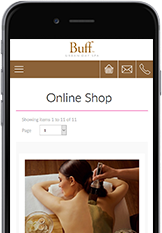 Web Designers from Cornwall built the Buff Day Spa website.