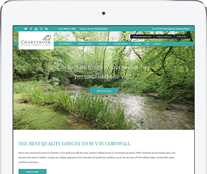 Cornwall Web Designers built the Charteroak website.