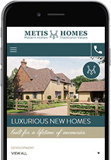 Web Designers from Cornwall built the Metis Homes website.