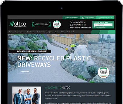Cornwall Web Designers built the Oltco website.